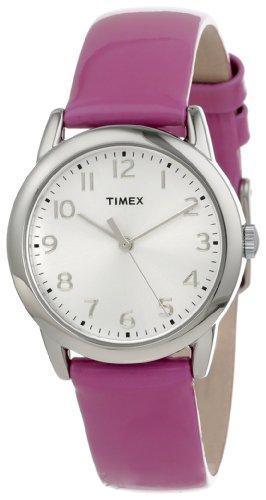 Timex Women's T2P1182M Purple Patent Leather Strap Watch