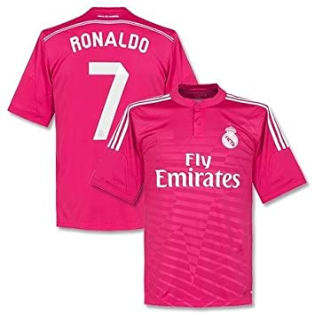 new concept 7ed57 eae57 Real Madrid Ronaldo #7 Away Pink Youth Soccer Jersey with Matching Shorts -  Size YL for 9-11 yo