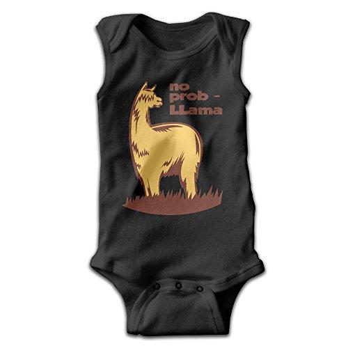 (Hizhogqul No Prob-Llama Baby Sleeveless Romper Bodysuit Jumpsuit 6 M Black)