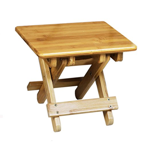 AIDELAI Bar Stool chair- Bamboo Small Bench Folding Stool Portable Outdoor Children Mazar Fishing Chair Fangdeng Adult Household Saddle Seat (Size : 20.52520cm) by AIDELAI