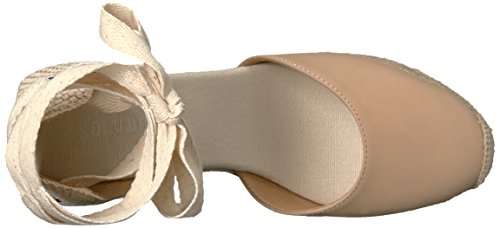 Soludos Womens Tall (90mm) Sandaal Met Wiggen Nude