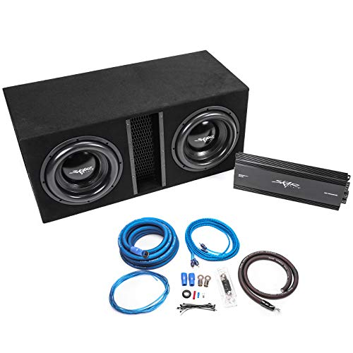 Complete 5,000 Watt Subwoofer Bass Package - Includes Subwoofers in Ported Box with Amplifier ()