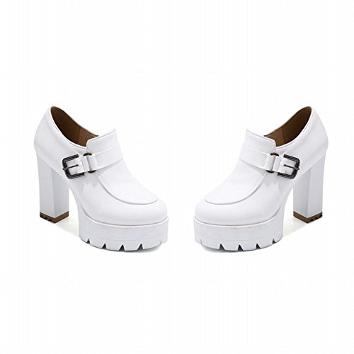 Reißverschluss Plateau Damen Shoes Weiß Mee ankle Boots heels high 4HAnvq