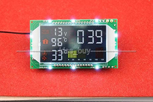 (Cailiaoxindong Digital LCD Time Voltage Dual Temperature Display Module for Car Interior/wate Tank DC 12V 24V)
