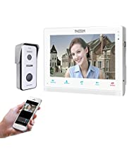 """TMEZON 10"""" IP WiFi Video Door Phone Doorbell Video Intercom System Montion Detection Entry System with 1x720P AHD CCTV Camera Wireless Night Vision,Remote Unlocking,Talking,Snapshot"""