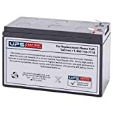 WKA12-7.5F Replacement Battery 12V 9ah with F2 0.250' Terminals