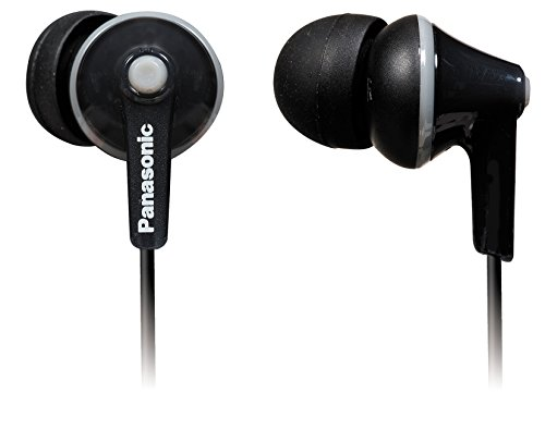Panasonic RP TCM125 Wired In Ear Headset with Mic  Black