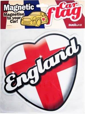 England MAGNETIC car Flag