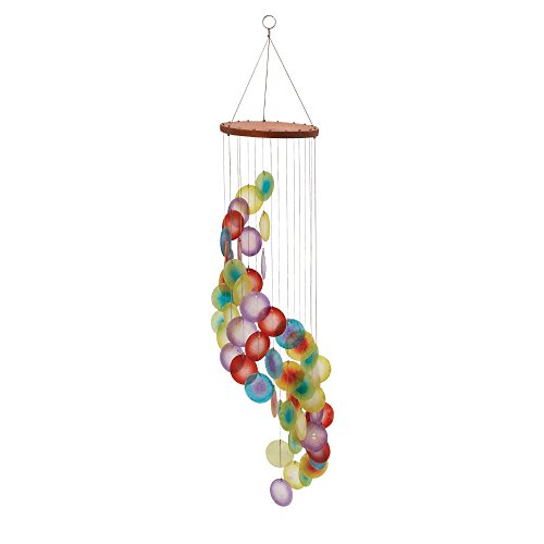 Deco 79 40384 Wood Capiz Wind Chime, 31
