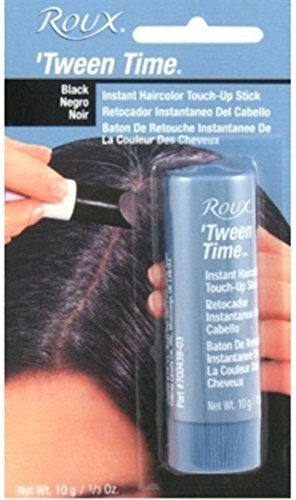 Roux Temporary Haircolor Touch-Up Stick Black, 1 ea (Pack of 12) by Roux