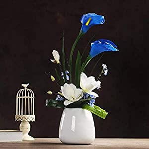 JUSTOYOU Artificial Calla Lily Real Touch Latex Flower Blossom for Bridal Wedding Bouquet Home Decoration,Pack of 20pcs 2