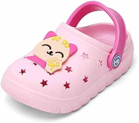 c7790123675e KVbabby Girls Clogs Kid s Garden Shoes Cute Boys Mules Lightweight Slides  Sandals Beach Slipper Water Shoes