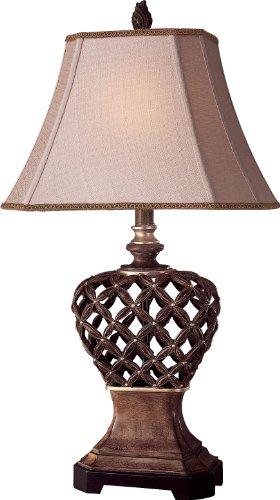 Minka Lavery 10821-0, Classics Tall Table Lamp, 1 Light, 75 Total Watts, Pecan
