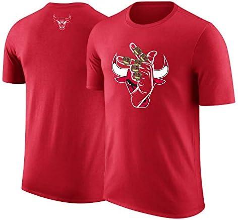 GXYGWJ 2019 Basketball Bulls Jordan Lavin Jersey Camiseta de Manga ...