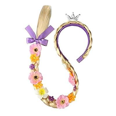 JiaDuo Girls Costume Wig Princess Dress up Long Braided Cosplay Hair RW2: Clothing