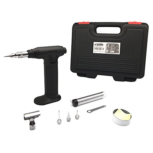 Torch Micro Butane Soldering (All Splendid Butane Micro Soldering Iron Torch Kit-With 5 tips and Solder Wire-Hot Air Blower- Micro Blow Torch)