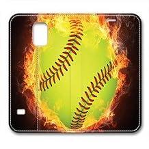 Samsung Galaxy S5 Case,Flame baseball Samsung Galaxy S5 Cases,Samsung Galaxy S5 High-grade leather Cases
