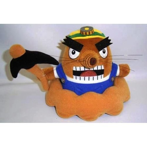Official Nintendo Animal Crossing Plush Toy - 7 Mr. Resetti / Mole (Japanese Import) by Sanei by Sanei