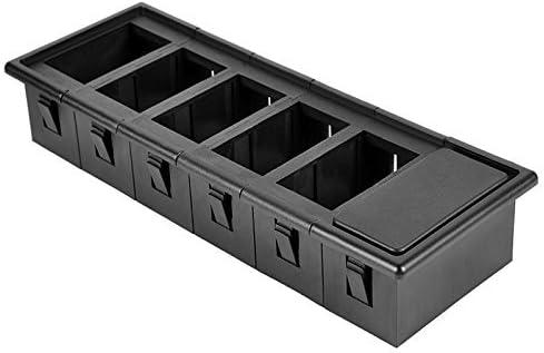 AutoEC Rocker Switch Panel Switch Holder Housing Kit Black Plastic