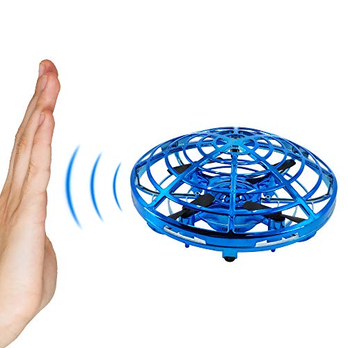 Bix Flying Toys Drone, Hand-Operated Flying Ball, Interactive Infrared Induction Helicopter Ball 360° Rotating Shinning LED Lights, Flying Toy Boys Girls Kids Holiday Birthday Gifts by Bix (Image #1)