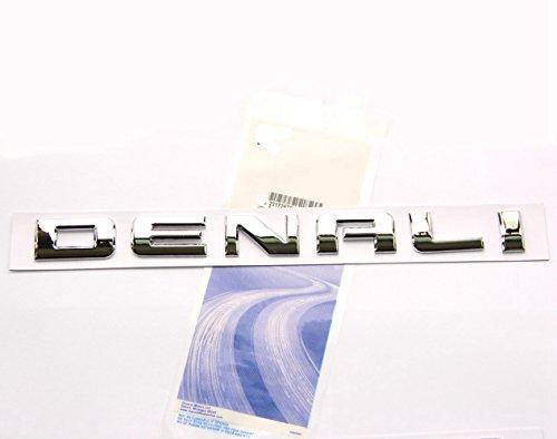 Yoaoo 1x Original Chrome Denali Nameplate Emblem Hd Badge for Gm 07-16 Yukon Sierra Terrain