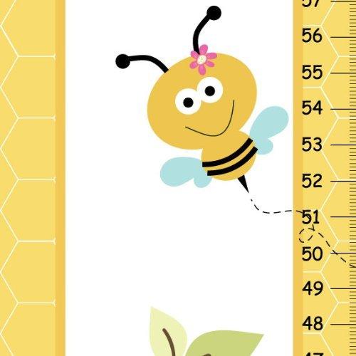 canvas growth chart bumble bee animals critters kids bedroom yellow baby nursery wall art baby nursery cool bee animal