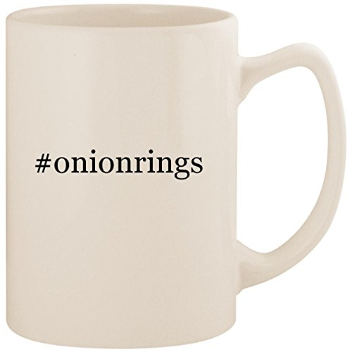 #onionrings - White Hashtag 14oz Ceramic Statesman Coffee Mug Cup