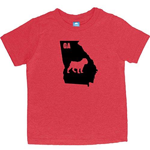 (Little Boys' Original I Bulldog Georgia Classic T-Shirt (4T, Red))