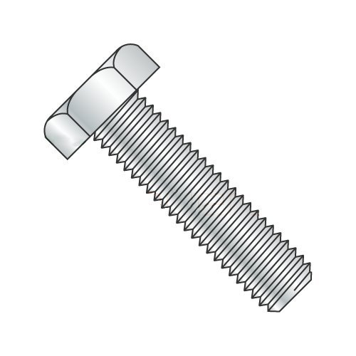 5/8 x 6'' Fully Threaded Hex Tap Bolt A307 Grade A, Zinc Plated Steel (Quantity: 5) Coarse Thread, 5/8-11 x 6'' by Newport Fasteners