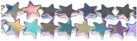 Non Magnetic Hematite Flat Star Beads 10mm Rainbow 6 Pcs Gemstones Jewellery
