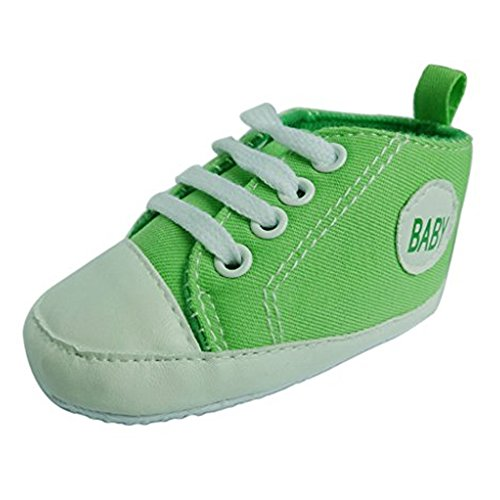 Gorgeous Baby Sneakers,Dealzip Inc Green Newborn Baby Boy Girl Soft Crib Lace Up Canvas Sneaker Shoes 0-6 Months