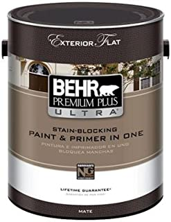product image for 1-gal. Ultra Pure white Flat Exterior Paint