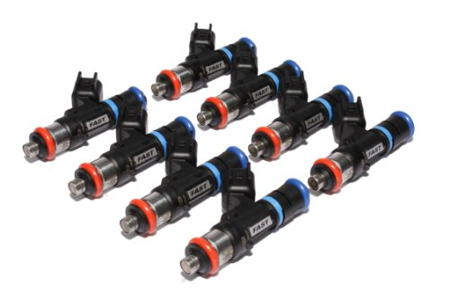 FAST 30572-8 Precision-Flow 57 lb/hr 598.5cc/min High-Impedance Fuel Injector for LS2, (Set of 8)