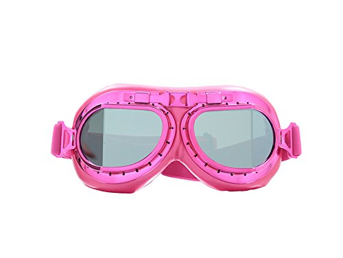 CRG Sports Vintage Aviator Pilot Style Motorcycle Cruiser Scooter Goggle T08 T08BCB - Parent (Pink ()