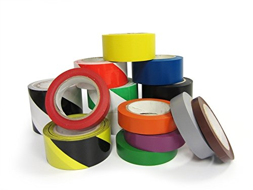 Premium Vinyl Safety Marking and Dance Floor Splicing Tape Multiple Color Single Roll and 5 Rolls Bundle PVC Marking Tape 6 mil Thick, 2 Blue APT, 2 Width X 36 Yds Length
