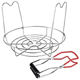 Stainless Steel Canning Rack with Tongs, 11