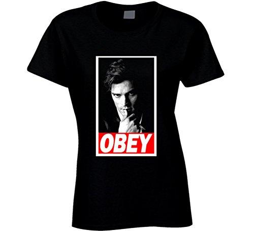 Obey Mr Grey 50 Shades Jamie Dornan Obey Parody Black T Shirt L - Women's Clothing Shades