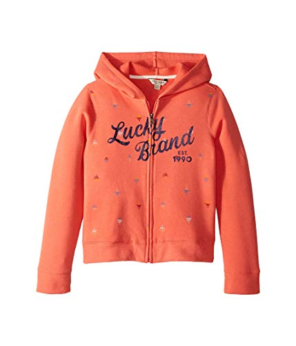 Lucky Brand Kids Girl's Greta Hoodie (Big Kids) Porcelain Rose Medium by Lucky Brand