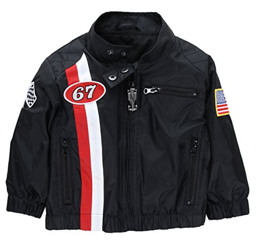 Up and Away Boys' Racing Jacket Windbreaker 6 Black for sale  Delivered anywhere in USA