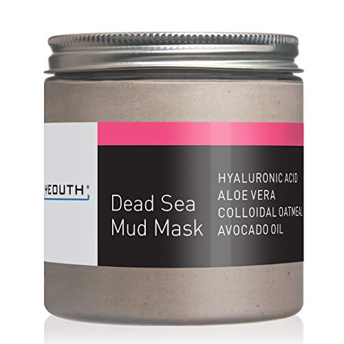 Oatmeal Facial Mask - YEOUTH Dead Sea Mud Face Mask with Hyaluronic Acid, Aloe, Oatmeal, and Avocado, Minimizes Pores, Reduces Wrinkles, Clears Blackheads, Acne and Helps Oily Skin, Rejuvenates 8oz
