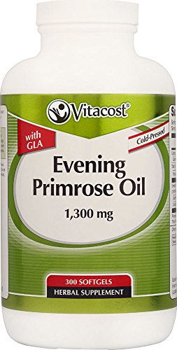 Vitacost Evening Primrose Oil with GLA — 1,300 mg – 300 Softgels