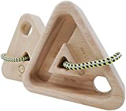 YY Vertical   Ultra Light Triangles Rock Climbing Holds   Made of Recycled Rubber Wood   Ideal for Outdoor and