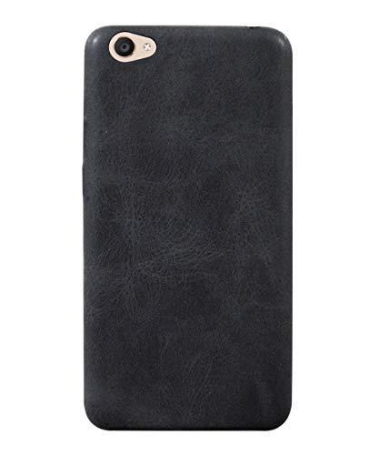 COVERNEW Leather Back Cover for Vivo V5  1601    Black SSLeatherBackkVivoV5Black