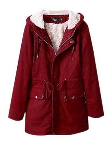 xl Acolchado Poliéster Larga red red YRF mujeres red Manga Abrigo Tallas Grandes 3xl 3xl De las ZHqznT5z0w