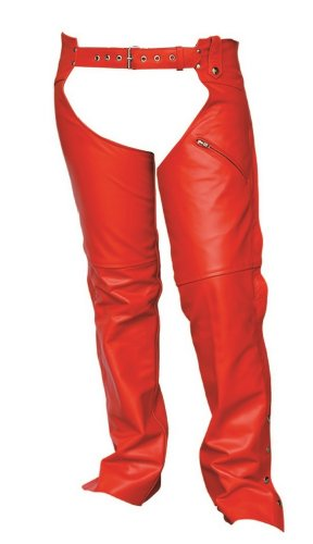 Women's AL2426 Leather Chaps X-Small Red by Allstate Leather