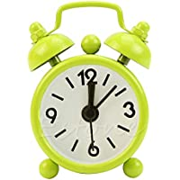 AThiToZone (arrive within 3-5 weeks). Super Tiny Alarm Clock Rings Loud, Super Mini Cute Dial Number Round Desk Antique Style Alarm Clock for Home Decoration,, Cute Souvenir, Green Color