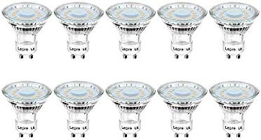 Lepro GU10 LED Light Bulbs, Warm White 2700K, 50W Halogen Spotlight Equivalent, 4W 350lm, 120° Beam Angle, Non-dimmable,...