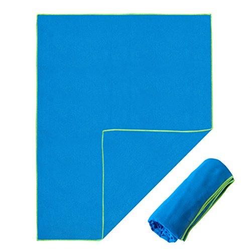 Toalla de microfibra Decathlon Nabaiji en 4 tamaños/7 colores - Pequeña, ligera y ultra absorbente - Toalla de viaje de microfibra, toalla de playa, ...