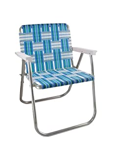11. Lawn Chair USA Sea Island Classic Chair with White Arms