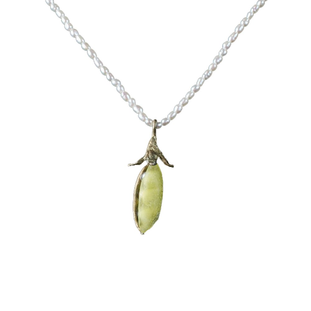 ''Sweet Pea'' Petite Pearl Necklace by Michael Michaud for Silver Seasons…
